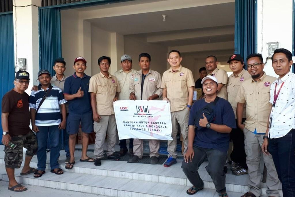 SKIN Kaltim Serahkan Bantuan ke Korban Bencana di Sulteng