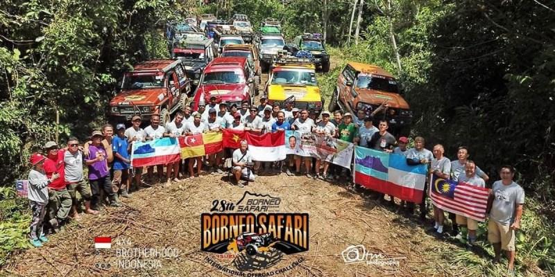 Tempuh 4200KM, Tim MJI & Adventura Hadir di Borneo Safari 2018