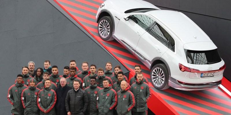 Audi e-tron Dicicipi Pemain FC Bayern