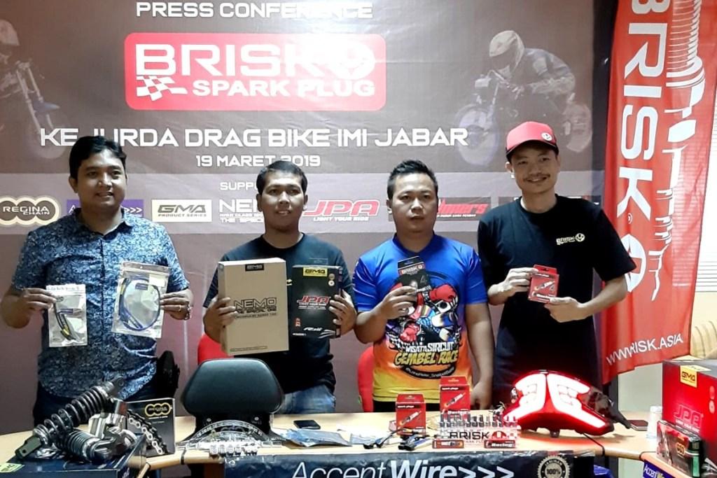 Brisk Motor Indonesia Dukung Kejurda Drag Bike IMI Jabar
