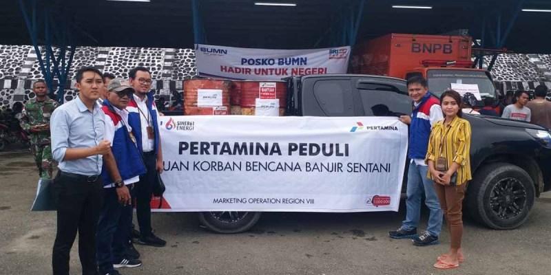 Pertamina Tambah Penyaluran BBM untuk Korban Banjir Sentani
