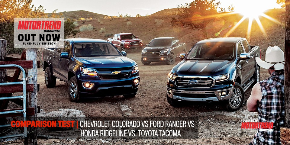 Comparison Test – Chevrolet Colorado vs Ford Ranger vs Honda Ridgeline vs Toyota Tacoma