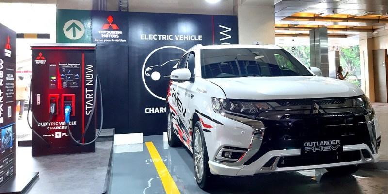 'Quick Charger' Mobil Listrik Mitsubishi Kini Tersedia di Plaza Senayan
