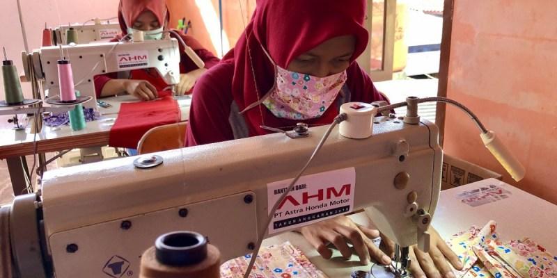 Mitra Binaan AHM Beralih Produksi Masker