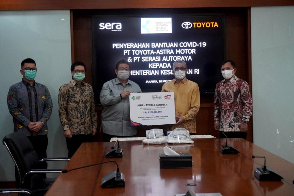 Toyota Dan Sera, Kembali Serahkan Ragam Donasi Bantuan Covid-19