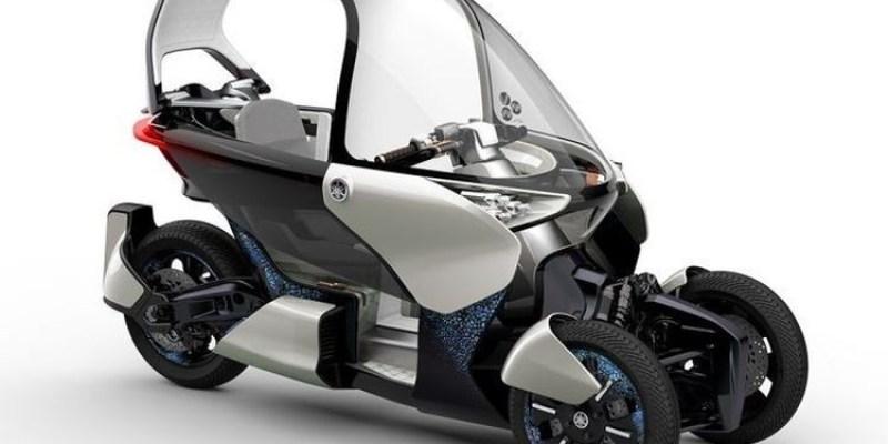Yamaha Ciptakan Motor Konsep Roda 3 Bermesin Hybrid