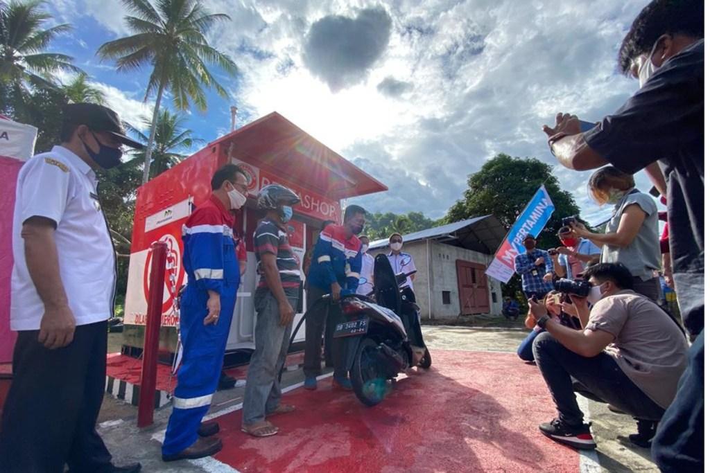 Pertamina Resmikan Pertashop Pertama di Sulawesi