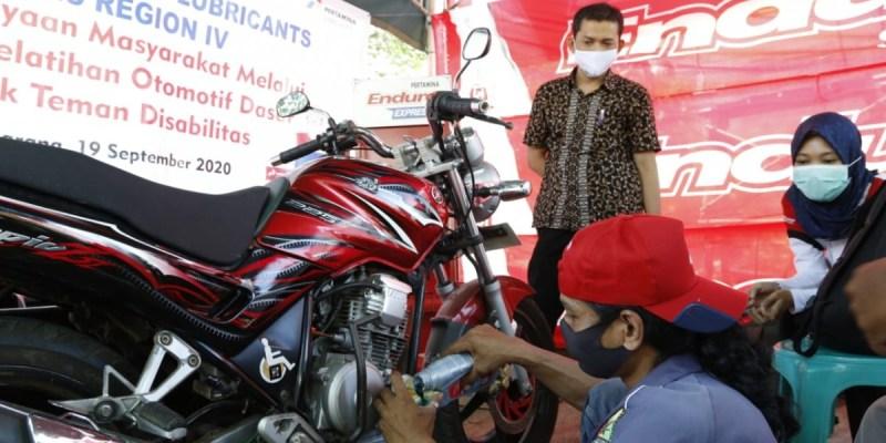 Pertamina Lubricants Dukung Bengkel Difabel di Semarang