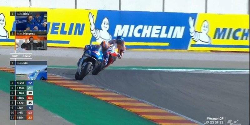 MotoGP Aragon 2020, Rins Pertama, Marquez Kedua