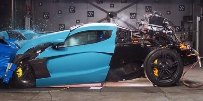 Hypercar Elektrik Rimac Concept Two Lakukan Uji Tabrak