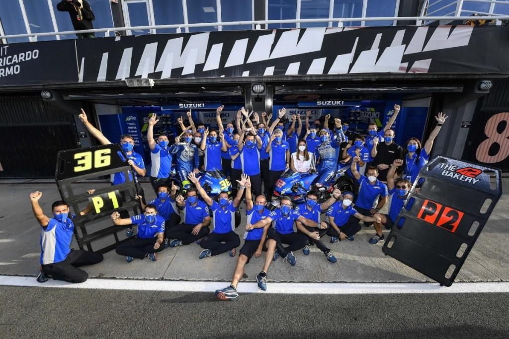 Suzuki Ecstar Cetak Sejarah Kemenangan Indah di MotoGP Eropa 2020