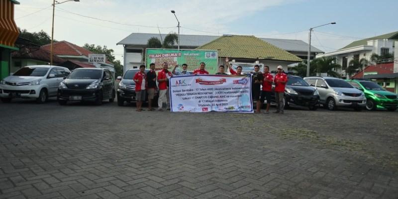 Rayakan HUT ke-17, AXIC Bagikan Sembako ke Relawan Covid-19