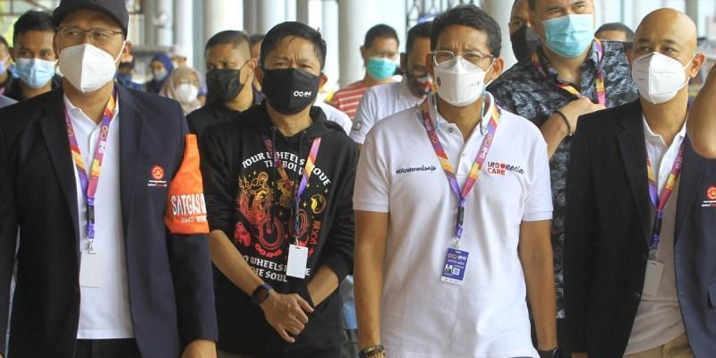 Terapkan Prokes, Sandiaga Uno Apresiasi Gelaran IIMS Hybrid 2021