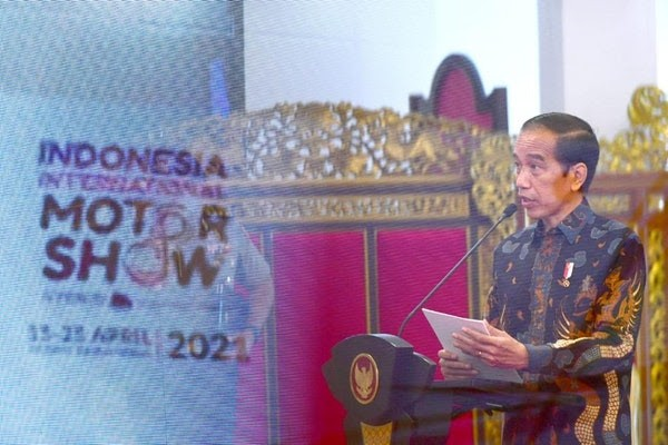Presiden Joko Widodo Resmi Buka Gelaran IIMS Hybrid 2021