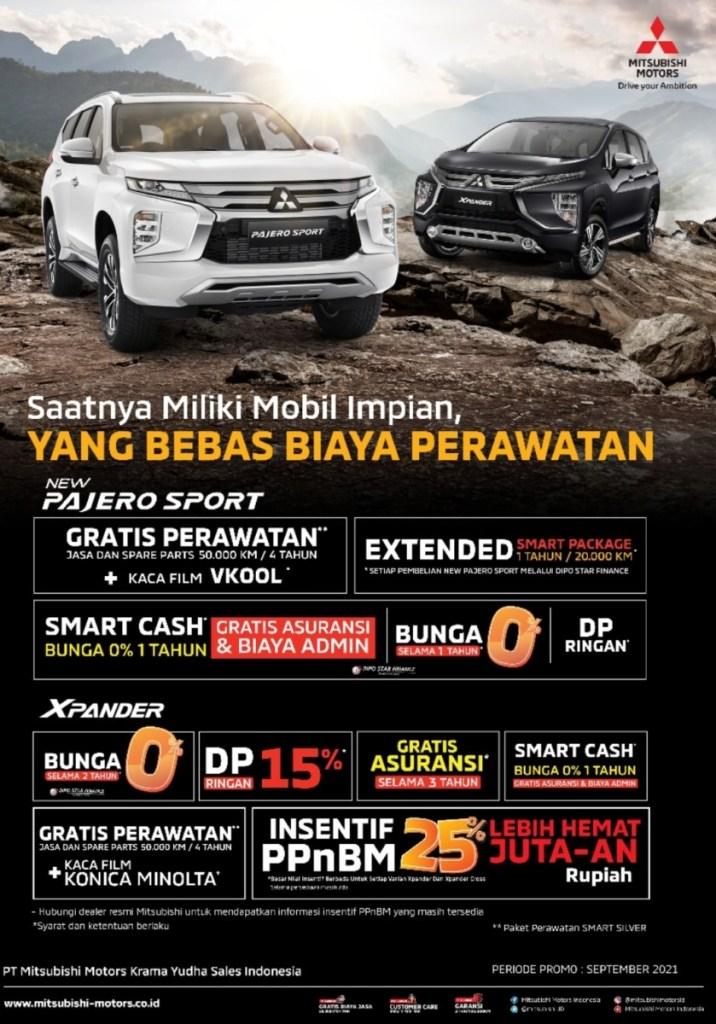 Mitsubishi Suguhkan Program Penjualan Menarik Di September 2021