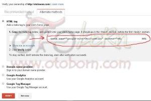 a04- copy meta tag verifikasi blog google webmaster