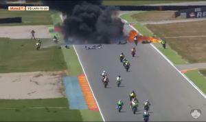 burn incident 2 moto2 race2 fim cev repsol 2016 aragon