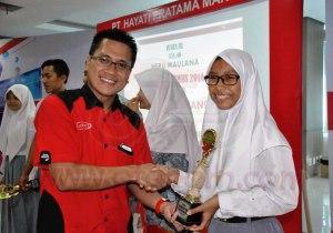 """Salah satu peserta pemenang AHMBS 2016 tahap seleksi regional di area Sumatera Barat. AHMBS 2016 mengangkat tema baru yaitu """"Young Entrepreneur"""""""