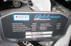 Suzuki Address Full Aksesoris Harga
