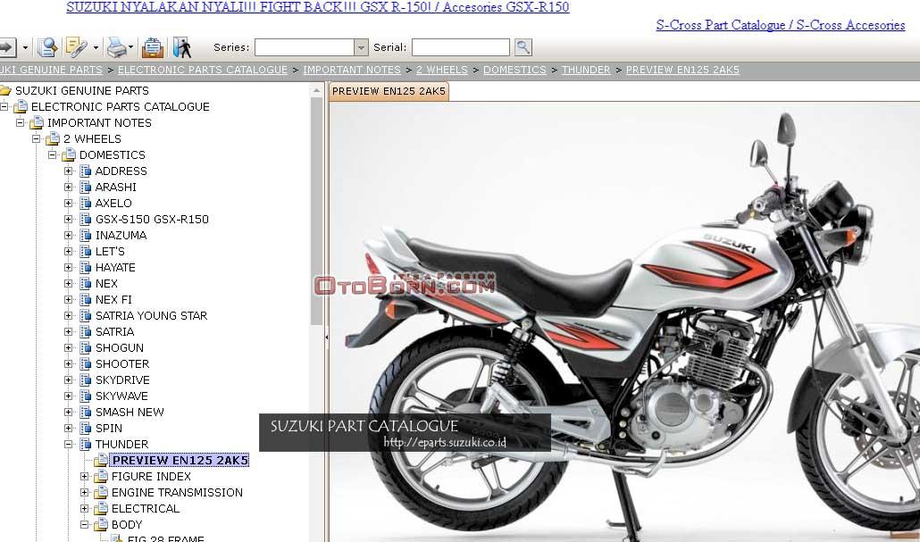 Harga Dan Katalog Sparepart Suzuki Bisa Diakses Dari Aplikasi Website Resmi