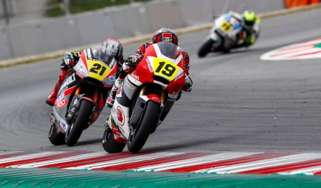 Penampilan Perdana CEV Moto2 Barcelona Andi Gilang