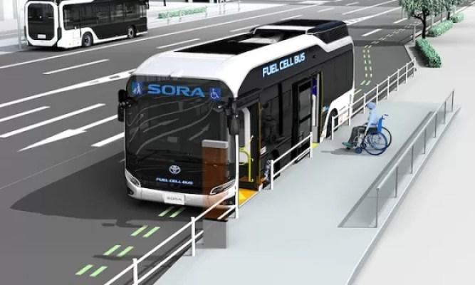 Toyota Bus Listrik Sora