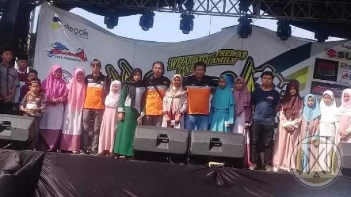 Jamnas Satria Club Indonesia (SCI) ke-17 yang diselenggarakan di studio alam, Depok, Jawa Barat diramaikan ribuan member Suzuki Satria yang tergabung di wadah Satria Club Indonesia (SCI), Sabtu (5/10).