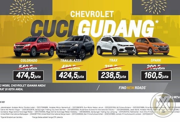 Chevrolet Indonesia Gelar Program Cuci Gudang