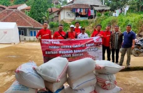 Misi Kemanusiaan Dealer Honda Jakarta Barat Untuk Lebak