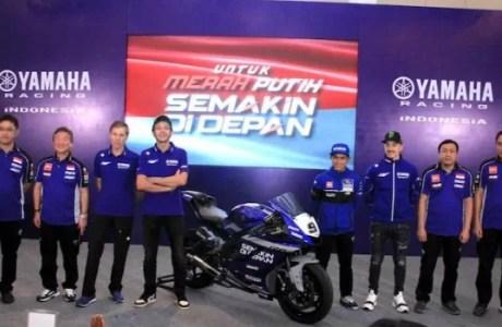 Valentino Rossi Dan Maverick Vinales Beri Dukungan Tim Balap Yamaha Indonesia