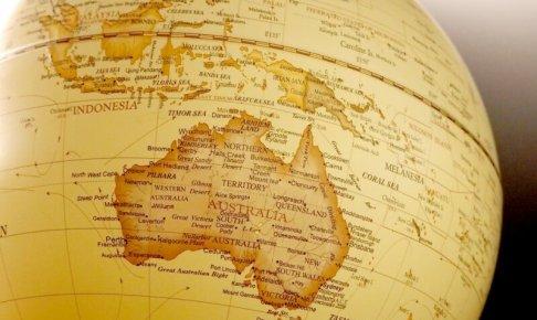 地球儀・オーストラリア