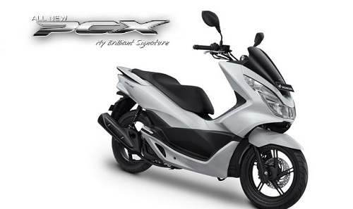 Glamour White Honda PCX 150