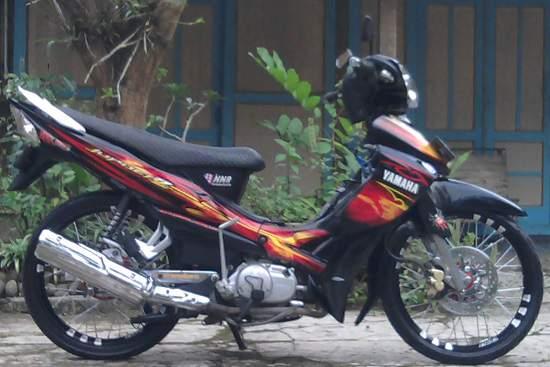 Contoh Modifikasi Yamaha Jupiter Z Jari Jari