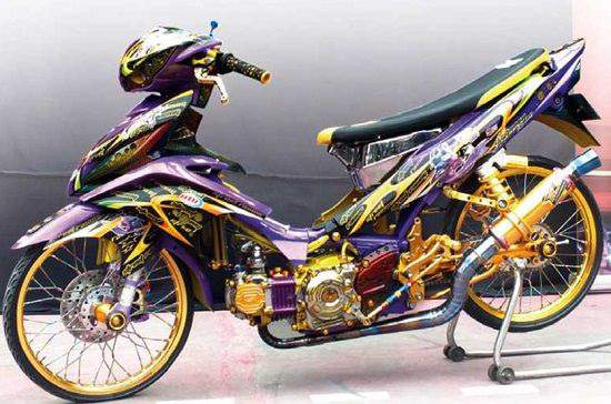 Gambar Modifikasi Jupiter Z Full Airbrush