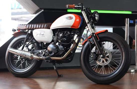 Modifikasi Kawasaki W175 Brat Cafe