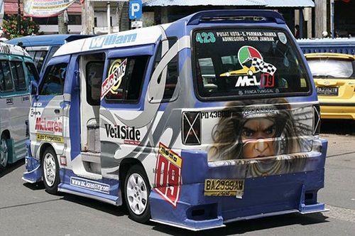 Modifikasi Mobil Ceper Angkot