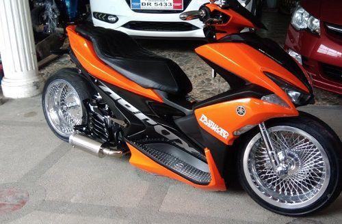 Modifikasi Yamaha Aerox Low Rider