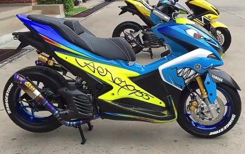 Modifikasi Yamaha Aerox Ubah Warna Bodi