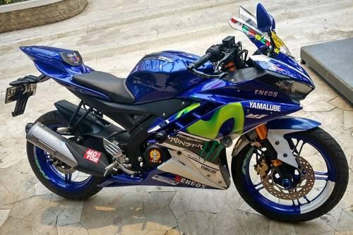 Modif Sticker Yamaha R15 Movistar