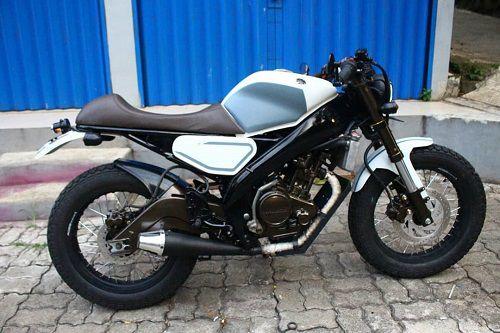 Modifikasi Yamaha Vixion Cafe Racer