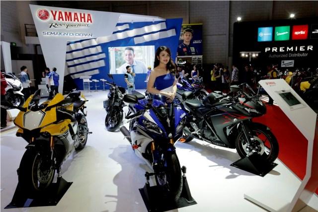 Booth Yamaha di Indonesia International  Motor Show 2017