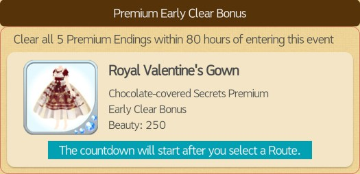 Premium Early Clear Bonus