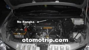 Gambar Letak Nomor Mesin dan Rangka Avanza | All New