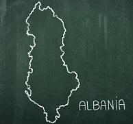 アルバニアの世界地図