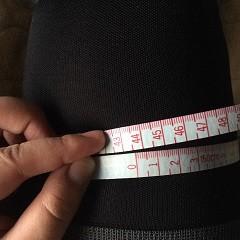 55日目に撮影した装着時のサイズです