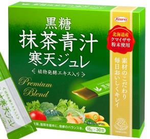 黒糖抹茶青汁寒天ジュレ 商品パッケージ画像