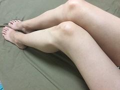 メルティヴィーナスでツルツル状態をキープしている脚の画像