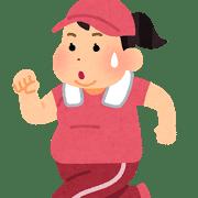 ダイエットのためにジョギングをする女性の画像