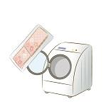 洗濯器と洗濯ネットの画像