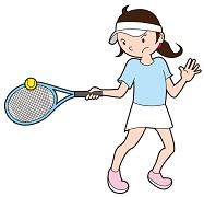 テニスをしている女性の画像